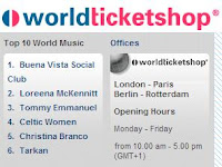 World Music list at ticket sales site