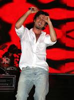 Tarkan on stage at Elazig's Ataturk Stadium