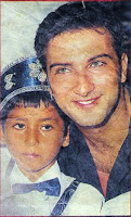 Newspaper footage of Tarkan at circumcision ceremony