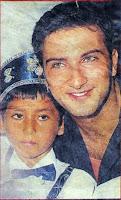 Newspaper footage of Tarkan at circumcision ceremony