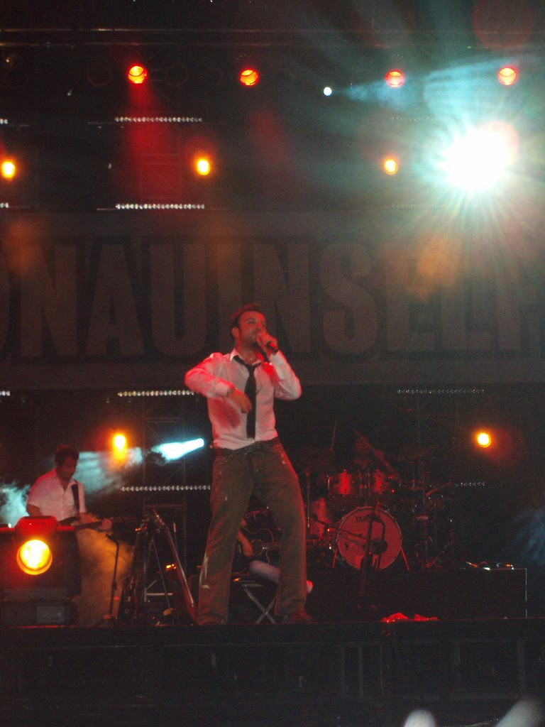 Tarkan on stage at one of the biggest open air events in Europe, in the Island of the Danube in Vienna, Austria in 2006.
