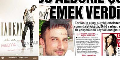 Front page of Kelebek and Tarkan album promo July 2010