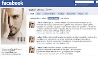 Screencap of Tarkan's official facebook page