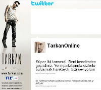 Screencap of Tarkan's tweet after the Harbiye concerts