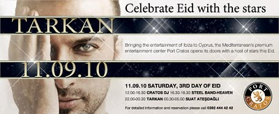 Tarkan in Kyrenia at Cratos Hotel