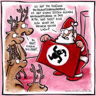 some funny christmas cartoons it has nice santas color it has a sweet little santa in the middle what dont you like from this new logo - Funny Christmas Cartoons