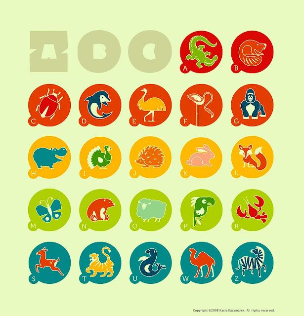 zoo abc animal icons