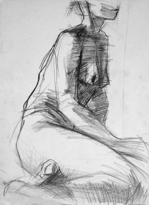 Kasia Kaczmarek, drawing, nude 01