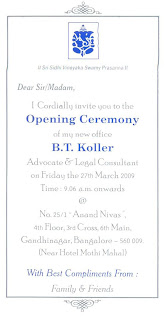 Opening Ceremony Of B T Koller Advocate And Legal Conusultant S