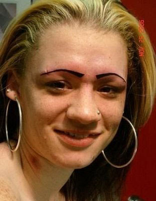 The fabrication eyebrows gone horribly wrong for Tattooed eyebrows gone wrong