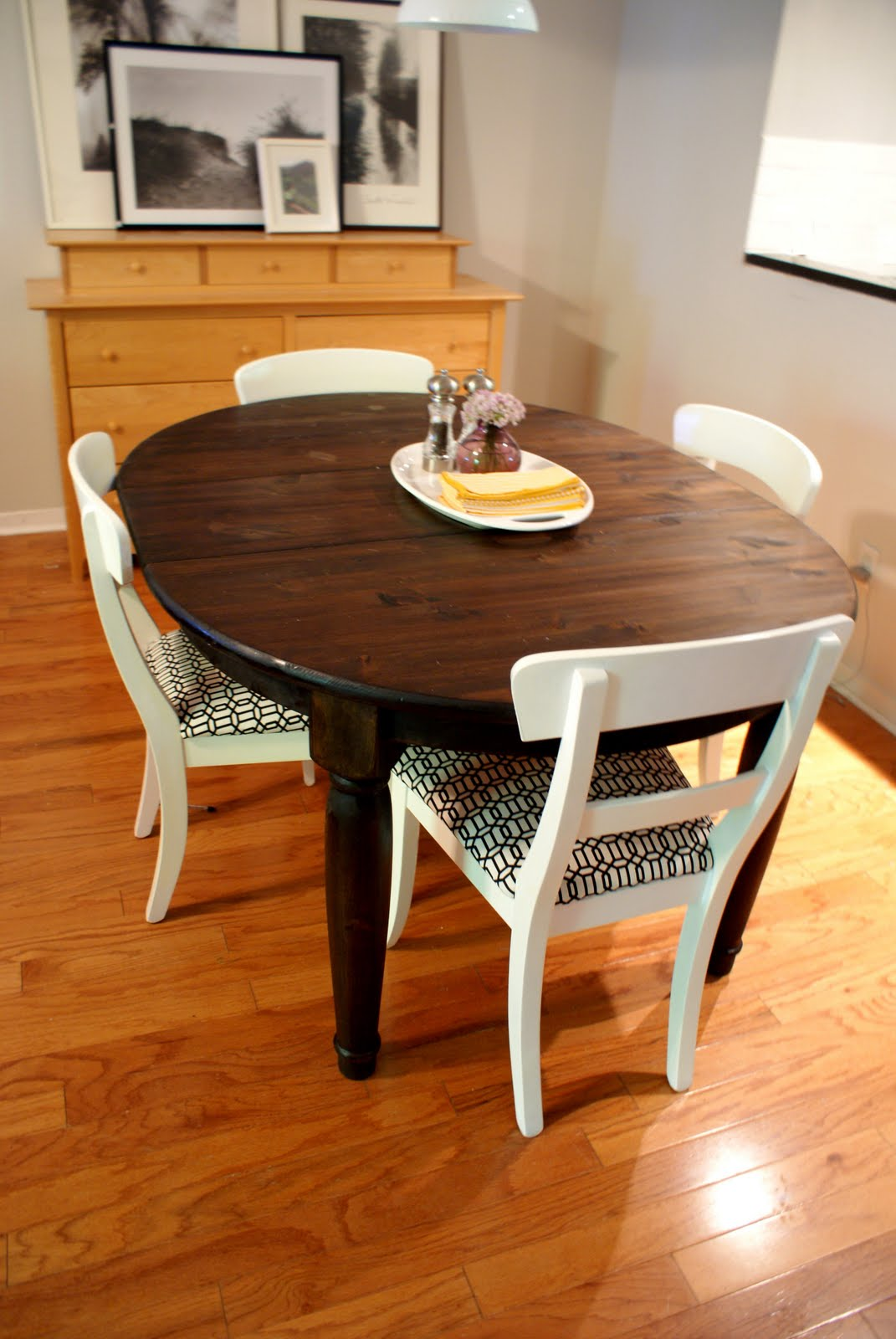 Thrifty little blog budget breakdown dining table and chairs - Refinished kitchen tables ...