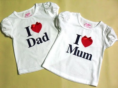 OSHKOSH I LOVE MUM & I LOVE DAD -GIRLS-