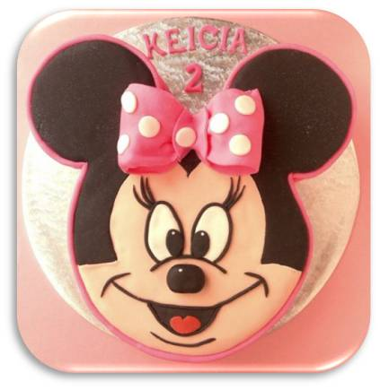 minnie mouse cake. and she loves Minnie Mouse!
