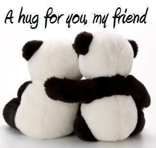 hugs friend