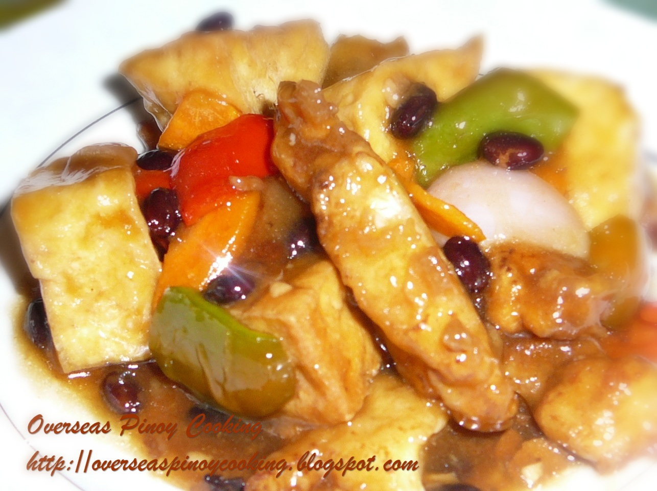 Pinoy home cooking and recipes fish and tofu with tausi for Filipino fish recipes