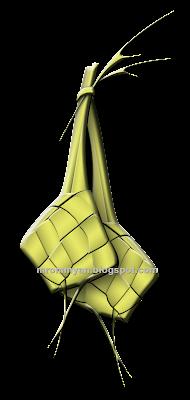 Ketupat vector emboss