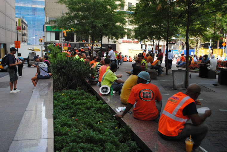 pausa pranzo al ground zero, nyc