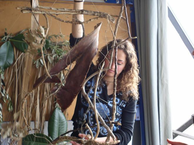 PARETE FOGLIA, prima fase: composizioni con elementi vegetali