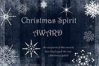 Christmas spirit award from I ponder ... the leading authority in poetry