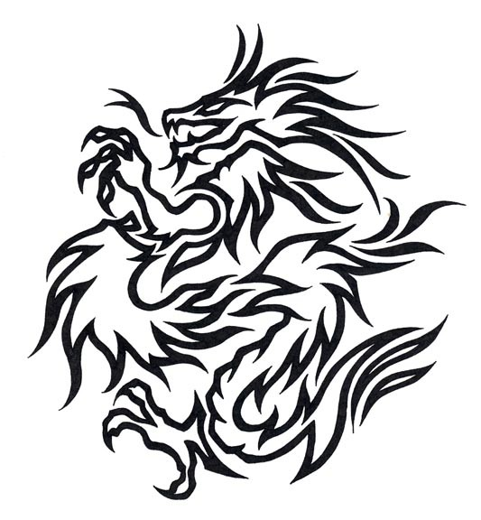 tribal dragon tiger. Dragon Tattoos(Instant
