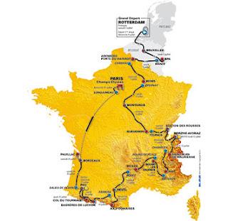2010 Tour de France route