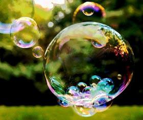 Se você fosse uma bolha de sabão... Onde pousaria?