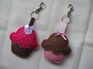 Cupcake Chaveiro Feltro