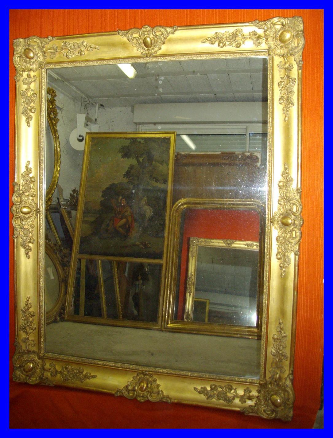 Dorure et restauration d 39 oeuvres d 39 art miroir poque for Restauration miroir