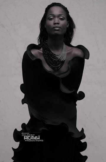 black model studio shoot by fashion portrait photographer gilbert rossi