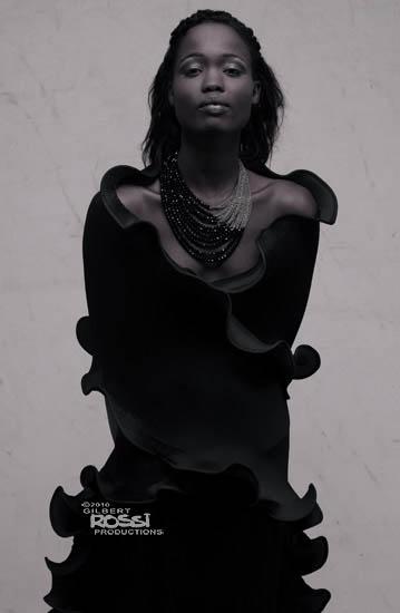 black model studio shoot by fashion portrait photographer gilbert rossi