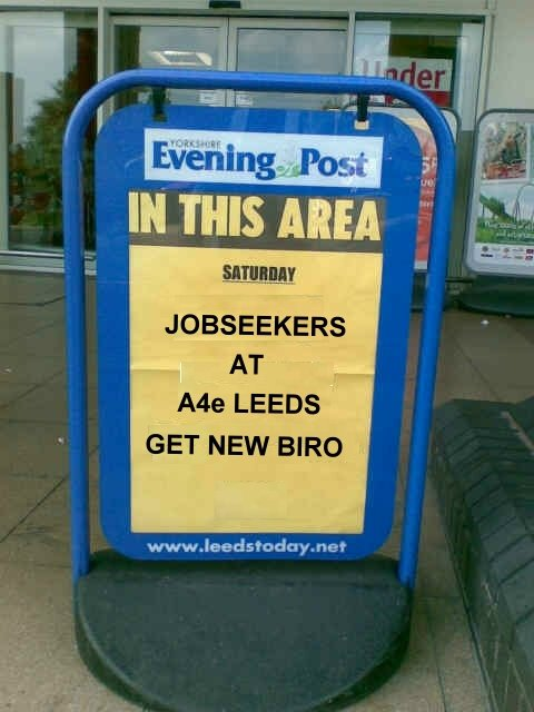 Jobseekers at A4e Leeds get new biro