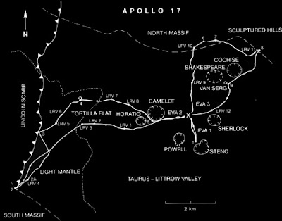 Apollo 17 Lunar Map