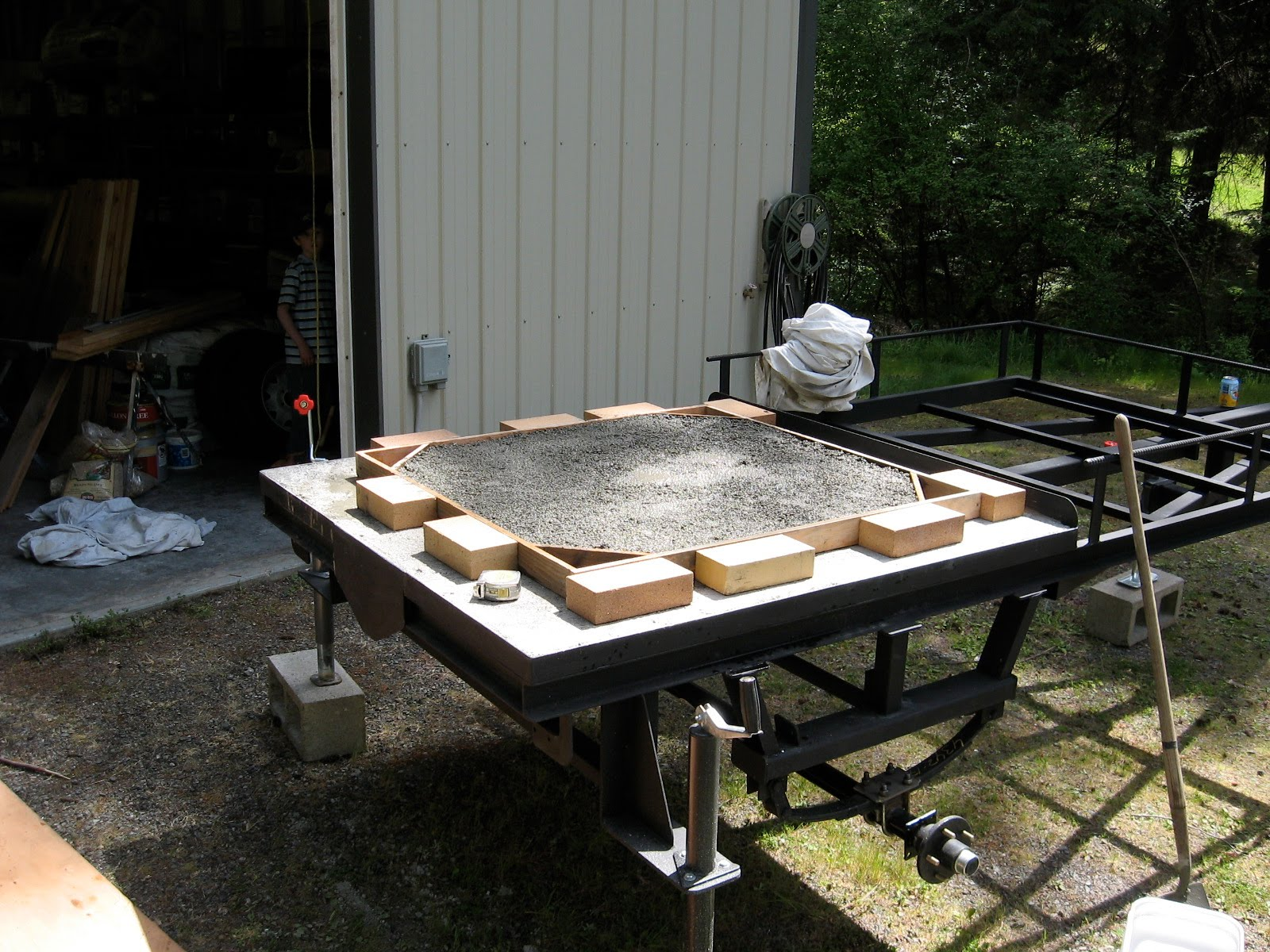 wood fired pizza oven build inn at ship bay