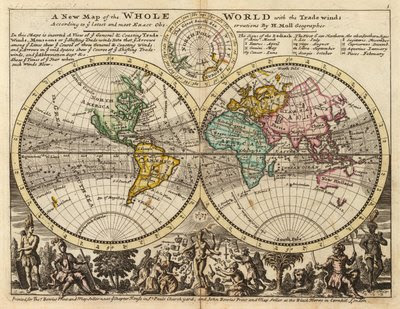 Ancient World Maps: World Map 18th Century