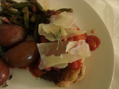 ... Fried Stuffed Pork Chops with Parmesan Curls and Marsala-Tomato Sauce