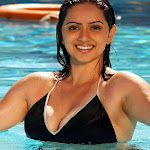 Telugu Hot Hema Malini In Two Piece Bikini
