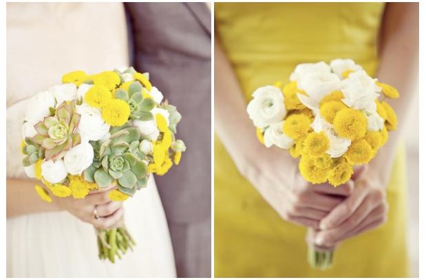 Delightful Yellow Gray Wedding
