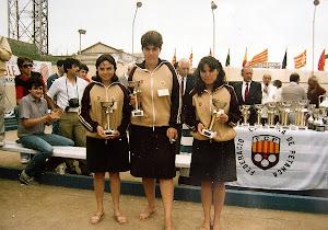 TERCERES CLASSIFICADES AL CAMPIONAT DE CATALUNYA I AL PRIMER TROFEU CIUTAT DE BARCELONA -1985