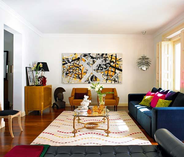 Con aire amatista decoraci n y dise o departamento for Decoracion para la pared del sofa