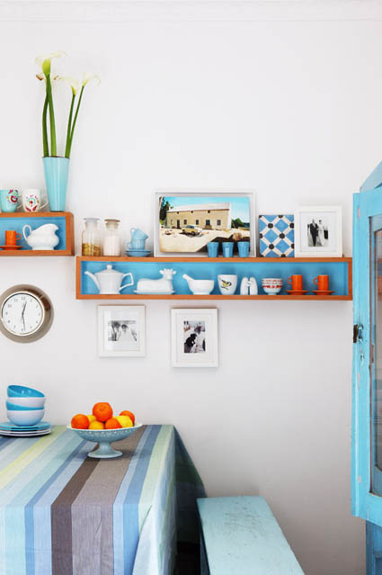 Vintage chic blog decoraci n vintage diy ideas para - Decoracion turquesa y naranja ...