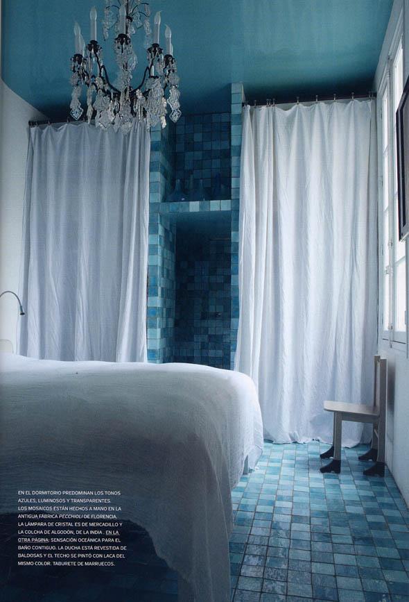 Decoracion Baños Azul Turquesa: turquesa+suelo+azulejos+esmaltados+y+techo+lacado+turquesajpg