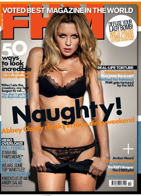 amber heard gets topless in fhm october 2008   photos