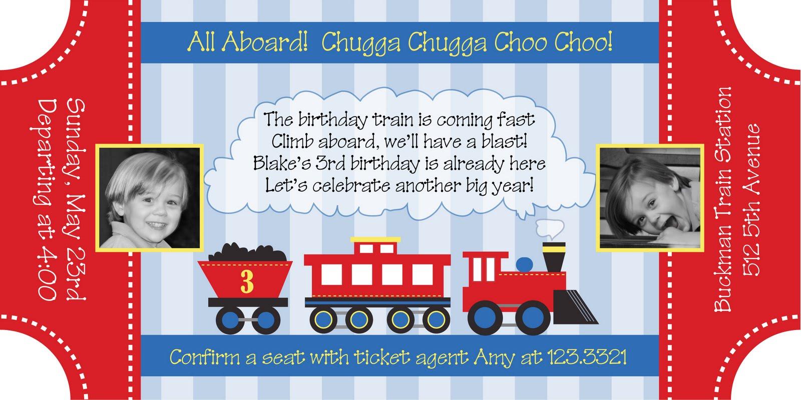 All Aboard the Choo Choo Train Party Anders Ruff Custom Designs LLC