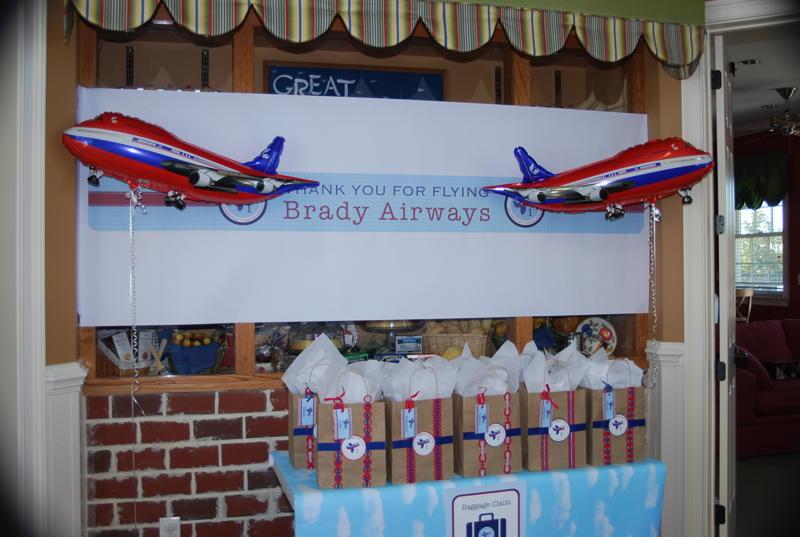Bradys Airplane 1st Birthday Party Anders Ruff Custom Designs LLC