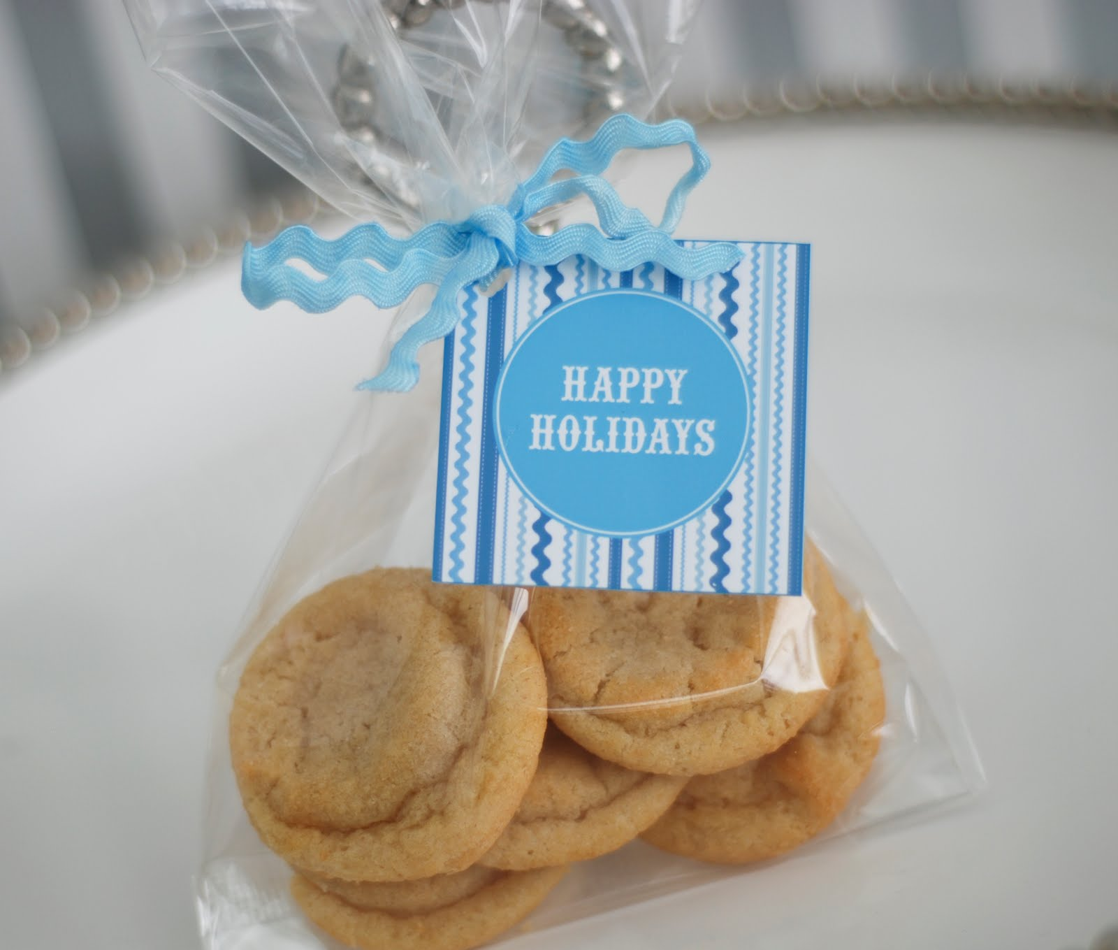 Free Printable Blue And White Holiday Cookie Exchange Recipe Cards