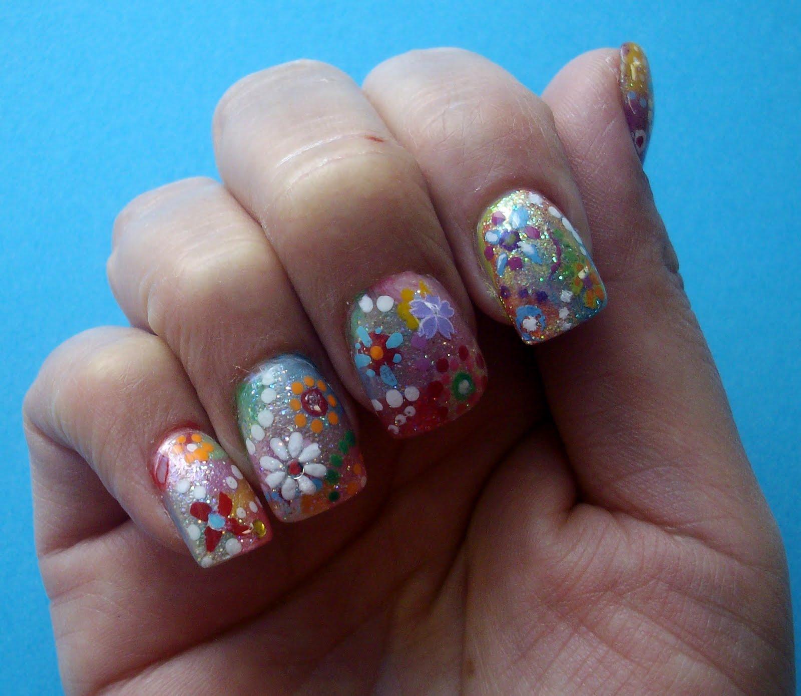 Colorful Nail Art: Monkey Inspirations: Colorful Nail Art