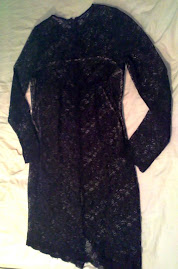 FCUK on trend black lace dress