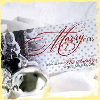 custom classic merry christmas card