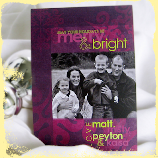 custom alternative merry and bright holiday card