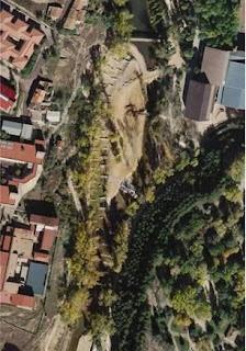 Foto aérea del canal, en plenas obras,2007